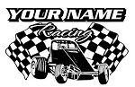 Personalized Wingless Sprint Car Racing v3 Decal Sticker