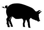 Pig Silhouette v1 Decal Sticker