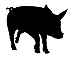 Pig Silhouette v2 Decal Sticker