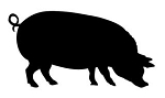 Pig Silhouette v4 Decal Sticker