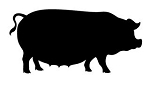 Pig Silhouette v5 Decal Sticker