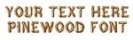Pinewood Font Decal Sticker