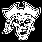 Pirate Skull v2 Decal Sticker