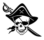 Pirate Skull v4 Decal Sticker