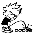 Piss On Dodge Decal Sticker