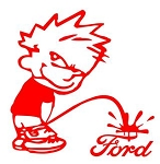 Piss On Ford Decal Sticker