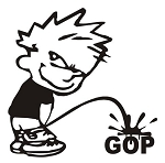 Piss On GOP Decal Sticker
