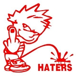 Piss On Haters v1 Decal Sticker