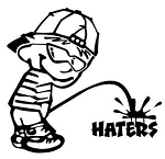 Piss On Haters v2 Decal Sticker