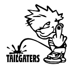 Piss On Tailgaters Decal Sticker
