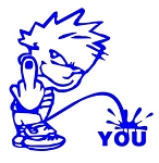 Piss On You Decal Sticker