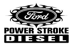 Power Stroke Tribal Decal Sticker