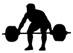 Powerlifter Silhouette v2 Decal Sticker