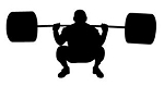 Powerlifter Silhouette v3 Decal Sticker