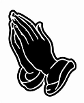 Praying Hands Decal Sticker