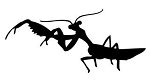 Praying Mantis v6 Decal Sticker