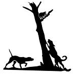 Raccoon in Tree v1 Decal Sticker