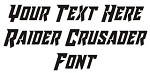 Raider Crusader Font Decal