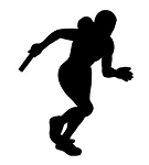 Relay Runner Silhouette Decal Sticker