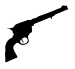 Revolver Silhouette v2 Decal Sticker