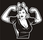 Rosie the Riveter v4 Decal Sticker
