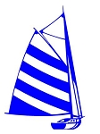 Sailboat v8 Decal Sticker