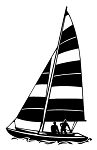 Sailboat v9 Decal Sticker