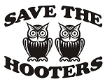 Save the Hooters v2 Decal Sticker