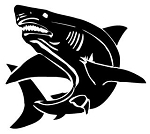 Shark v2 Decal Sticker