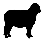 Sheep Silhouette v1 Decal Sticker