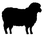 Sheep Silhouette v2 Decal Sticker