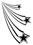 Shooting Stars v1 Decal Sticker