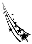 Shooting Stars v2 Decal Sticker