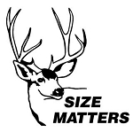 Size Matters Deer Decal Sticker