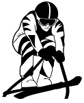 Skiing v1 Decal Sticker