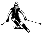 Skiing v4 Decal Sticker