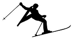 Skiing Silhouette v3 Decal Sticker