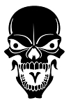 Skull v9 Decal Sticker