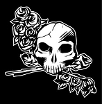 Skull and Roses Decal Sticker