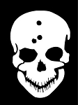 Skull with Bullet Holes Decal Sticker