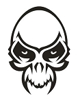 Skull with Fangs v1 Decal Sticker