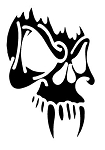 Skull with Fangs v2 Decal Sticker