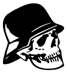 Skull with Hat Decal Sticker