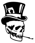 Skull with Tophat Decal Sticker