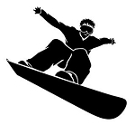 Skiing | Snowboarding Decals Stickers