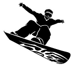 Snowboard Silhouette v13 Decal Sticker