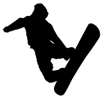 Snowboard Silhouette v4 Decal Sticker