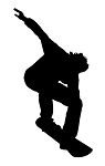 Snowboard Silhouette v7 Decal Sticker