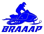 Snowmobile Braaap Decal Sticker