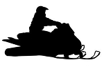 Snowmobile Silhouette v8 Decal Sticker
